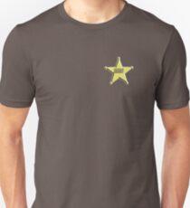 SHERIFF, Badge, The Law, Lawman, Cowboy, Wild West, T-Shirt