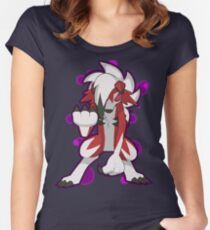 Pokemon - Lycanroc Midnight Form Women's Fitted Scoop T-Shirt