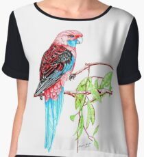 Blue Tail Parrot - Green Day Chiffon Top