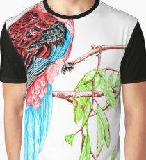 Blue Tail Parrot - Green Day Graphic T-Shirt