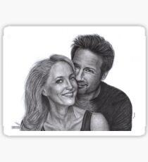 Gillian Anderson and David Duchovny Sticker