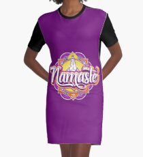 NAMASTE Graphic T-Shirt Dress