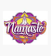 NAMASTE Photographic Print