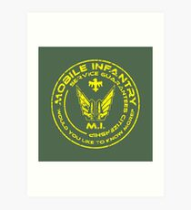 Starship Troopers - Mobile Infantry Patch Art Print