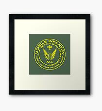 Starship Troopers - Mobile Infantry Patch Framed Print