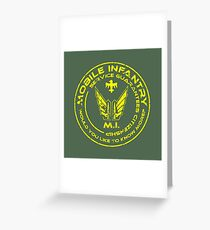 Starship Troopers - Mobile Infantry Patch Greeting Card