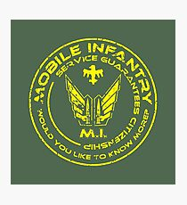 Starship Troopers - Mobile Infantry Patch Photographic Print