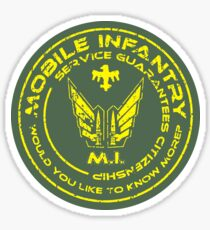 Starship Troopers - Mobile Infantry Patch Sticker