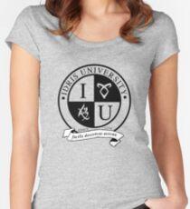 Idris University (transparent rune ver.) Women's Fitted Scoop T-Shirt