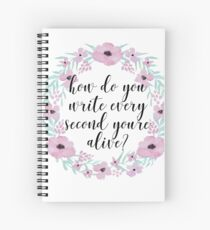How do you write every second you're alive? Spiral Notebook