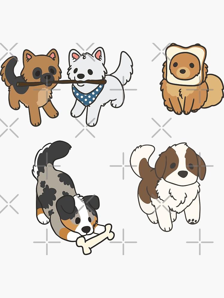 Pupper Aufkleber von ncdoggGraphics