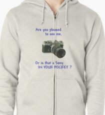 Are you pleased to see me. Sony. Zipped Hoodie