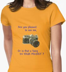 Are you pleased to see me. Sony. Women's Fitted T-Shirt