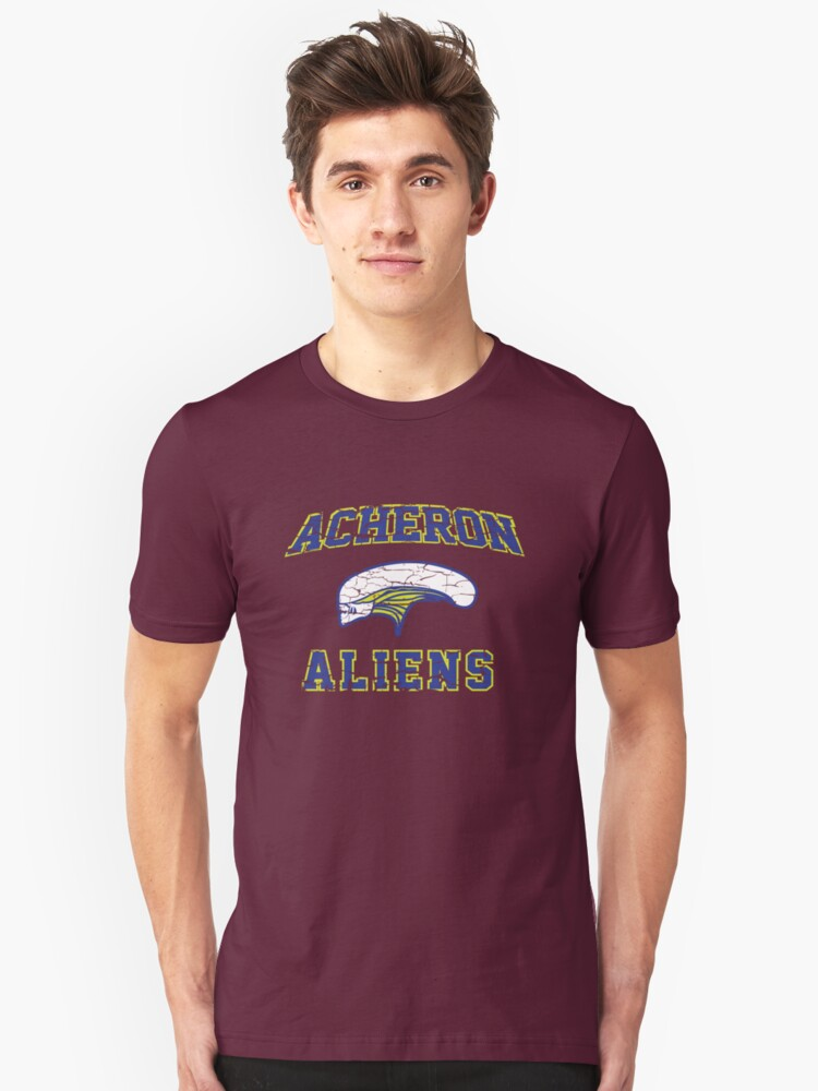 Aliens - American Football Style Unisex T-Shirt Front