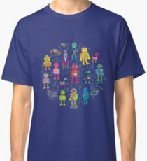 Robots in Space - grey - fun Robot pattern by Cecca Designs Classic T-Shirt