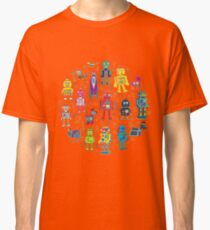 Robots in Space - grey Classic T-Shirt