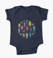 Robots in Space - grey One Piece - Short Sleeve