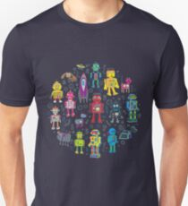 Robots in Space - grey T-Shirt