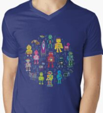 Robots in Space - grey - fun Robot pattern by Cecca Designs T-Shirt