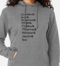 Lunar Chronicles Characters Lightweight Hoodie