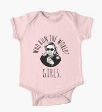 Hillary Clinton Who Run The World Short Sleeve Baby One-Piece