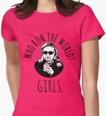 Hillary Clinton Who Run The World Women's Fitted T-Shirt