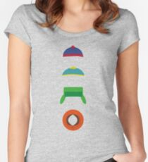 Minimalist cool south park design Women's Fitted Scoop T-Shirt