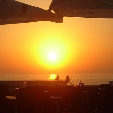 A warming sunset  by NyiZla