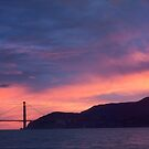 Golden Gate Bridge at Sunset by solutionary
