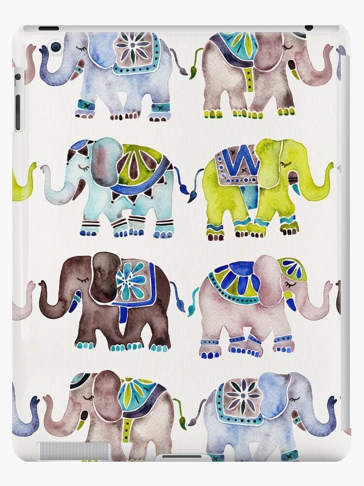 Elefant-Sammlung - kühle Palette von Cat Coquillette