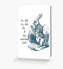 White Rabbit Late Greeting Card