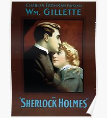 Performing Arts Posters Charles Frohman presents William Gillette in Sherlock Holmes 1343 Poster