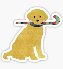 Yellow Lab Retriever Field Hockey Dog Sticker