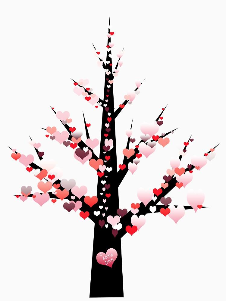 Tee: Valentine Tree by stevenhouse