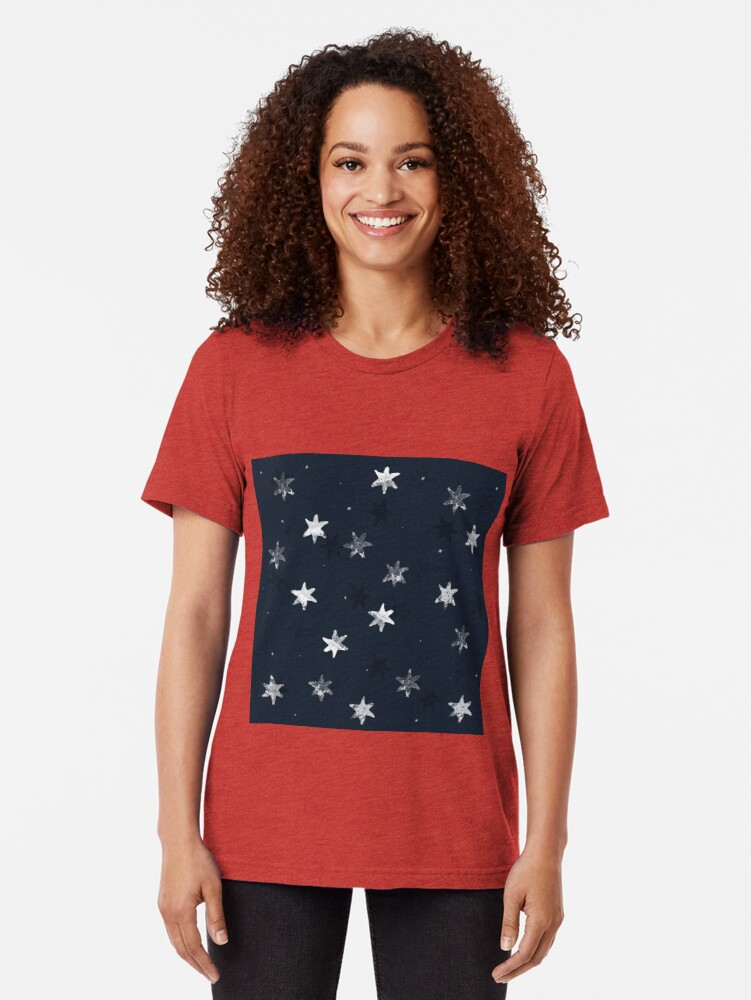 Alternate view of Stamped Star Tri-blend T-Shirt
