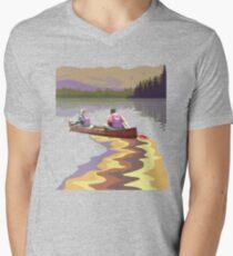 Tee: Canoe Lesse Men's V-Neck T-Shirt