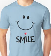 Smile  Because Life Is Good - Cute Smiley Emoticon Unisex T-Shirt