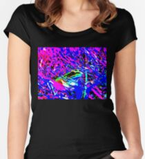 Psychedelic Frog Women's Fitted Scoop T-Shirt