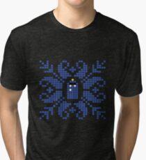 Knitted TARDIS Tri-blend T-Shirt