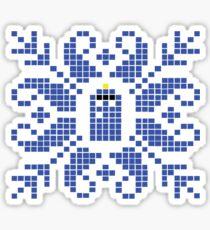 Knitted TARDIS Sticker