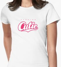 GenuineTee - Cutie (white/pink) Women's Fitted T-Shirt