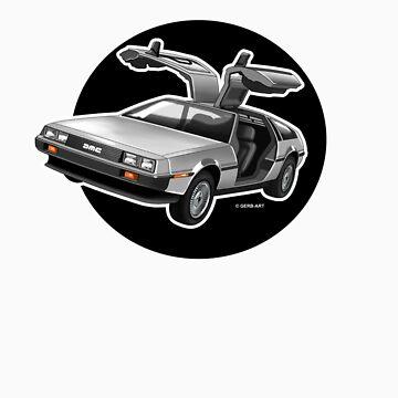 Delorean Iconic sportscar.. by GerbArt