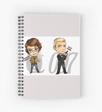 00Q the most powerful couple in MI6 - Skyfall Spiral Notebook