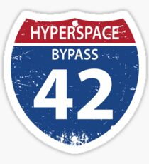 Hyperspace Bypass 42 Sticker