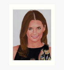 Stana Katic Art Print