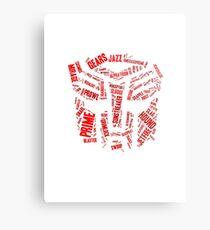 Transformers - Autobot Wordtee Metal Print