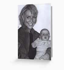 Amanda Tapping and baby Olivia Greeting Card