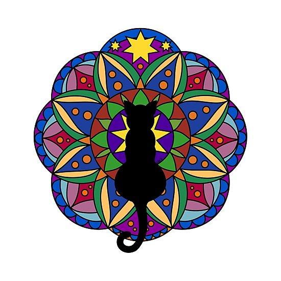 «Black Cat Mandala» de Iceyuk