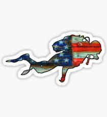 USA Scuba diver Sticker