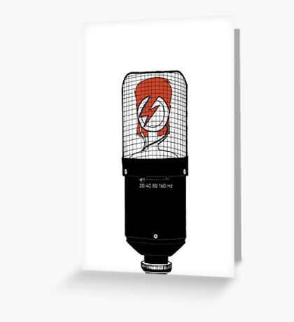 David Bowie: A Mic To Our Hearts Greeting Card